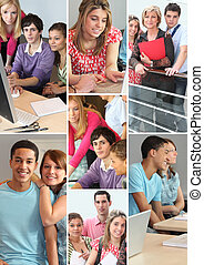 montage of students in professional training