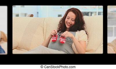 Montage of women having fun during - Montage of women having...