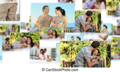 Montage of young couples spending s
