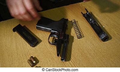 montage, pistolet