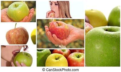 montage, pomme