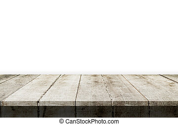 montage, product., isolé, bois, fond, table, blanc, exposer, vide