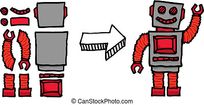 montage, robot