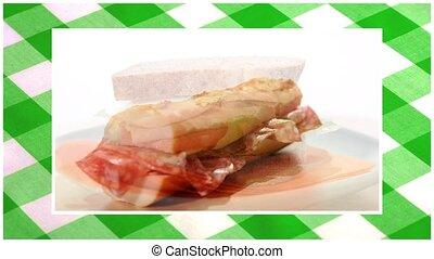montage, sandwichs, assorti