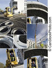 montage, site construction