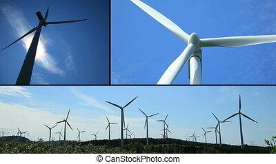 montage, turbine, vent