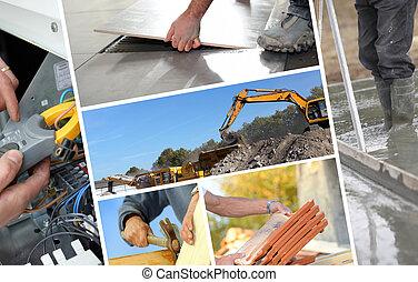 montagem, construção