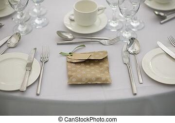 montaggio cena, a, uno, matrimonio