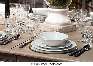 montaggio tavola, lusso
