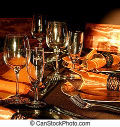 montaggio tavola, matrimonio