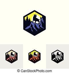 montagna, 01, bufalo, logotipo