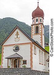 montagna, austria, chiesa, tirol, villaggio