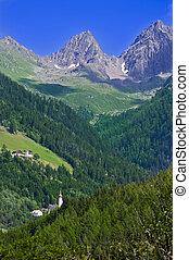 montagna, austria, paesaggio, tirol