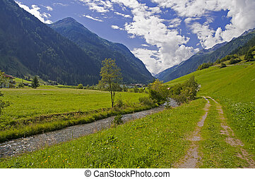 montagna, austria, valle