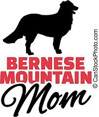 montagna, bernese, silhouette, cane, mamma