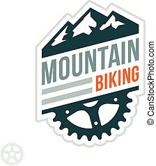 montagna biking, distintivo