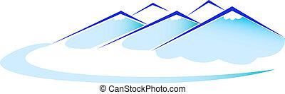 montagna blu