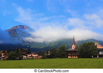 montagna, charmant, prati, alpino