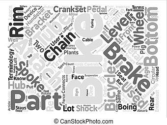 montagna, concetto, parola, testo, anatomia, bicicletta, fondo, nuvola