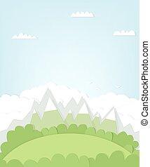montagna, disinserimento, paesaggio