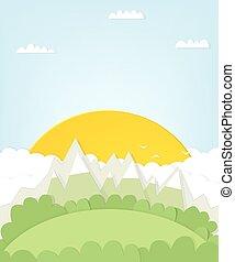 montagna, disinserimento, sun., paesaggio