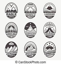 montagna, distintivo, set2