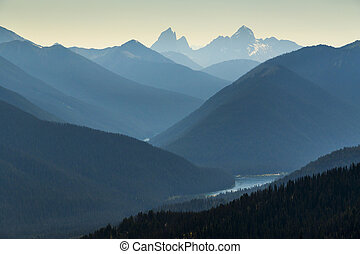 montagna, elevato, paesaggio, vista