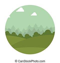 montagna, emblema, isolato, icona