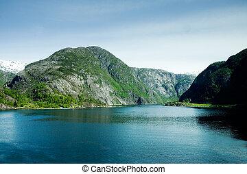 montagna, fiordo