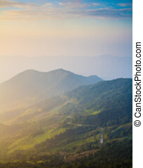 montagna, fondo, sfocato