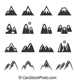 montagna, icona