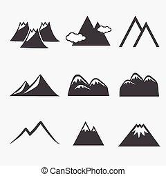 montagna, icone
