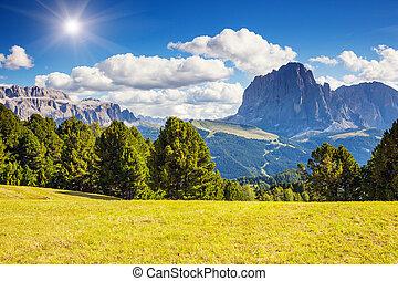 montagna, magico, paesaggio
