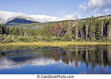 montagna, parco nazionale, roccioso, lago