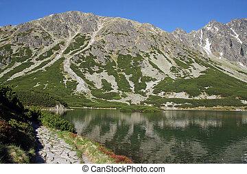 montagna, polonia, lago, montagne, tatra