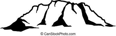 montagna, roccia