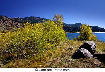 montagna, roccioso, paesaggio