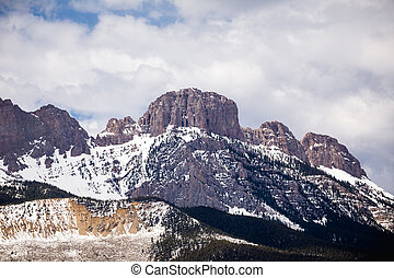 montagna, roccioso, picchi
