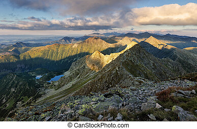 montagna, -, rohace, slovacchia, ovest, tatras