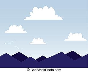 montagna, scena