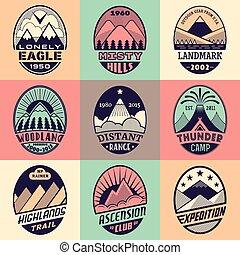 montagna, set2color1, distintivo
