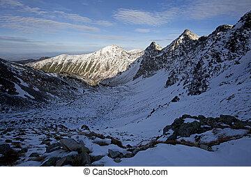 montagna, slovacchia, inverno