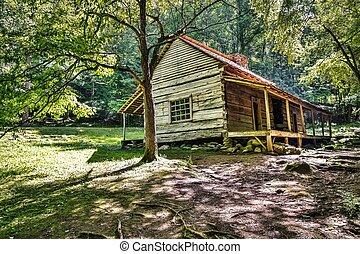 montagna, storico, cabina