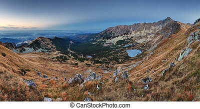 montagna, tatras, panorama, polonia, -, rohace, slovacchia