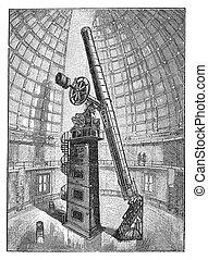 montagna, telescopio osservatorio, califormia, hamilton,...