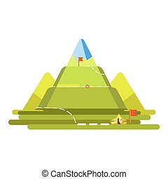 montagna, tracciato, rampicante