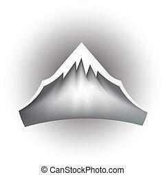 montagna, vettore, picco