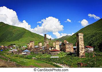 montagna, villaggio