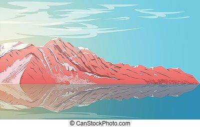 montagne, 2, paysage