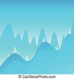 montagne, andando gita, decorazione, fondo, rampicante, paesaggio